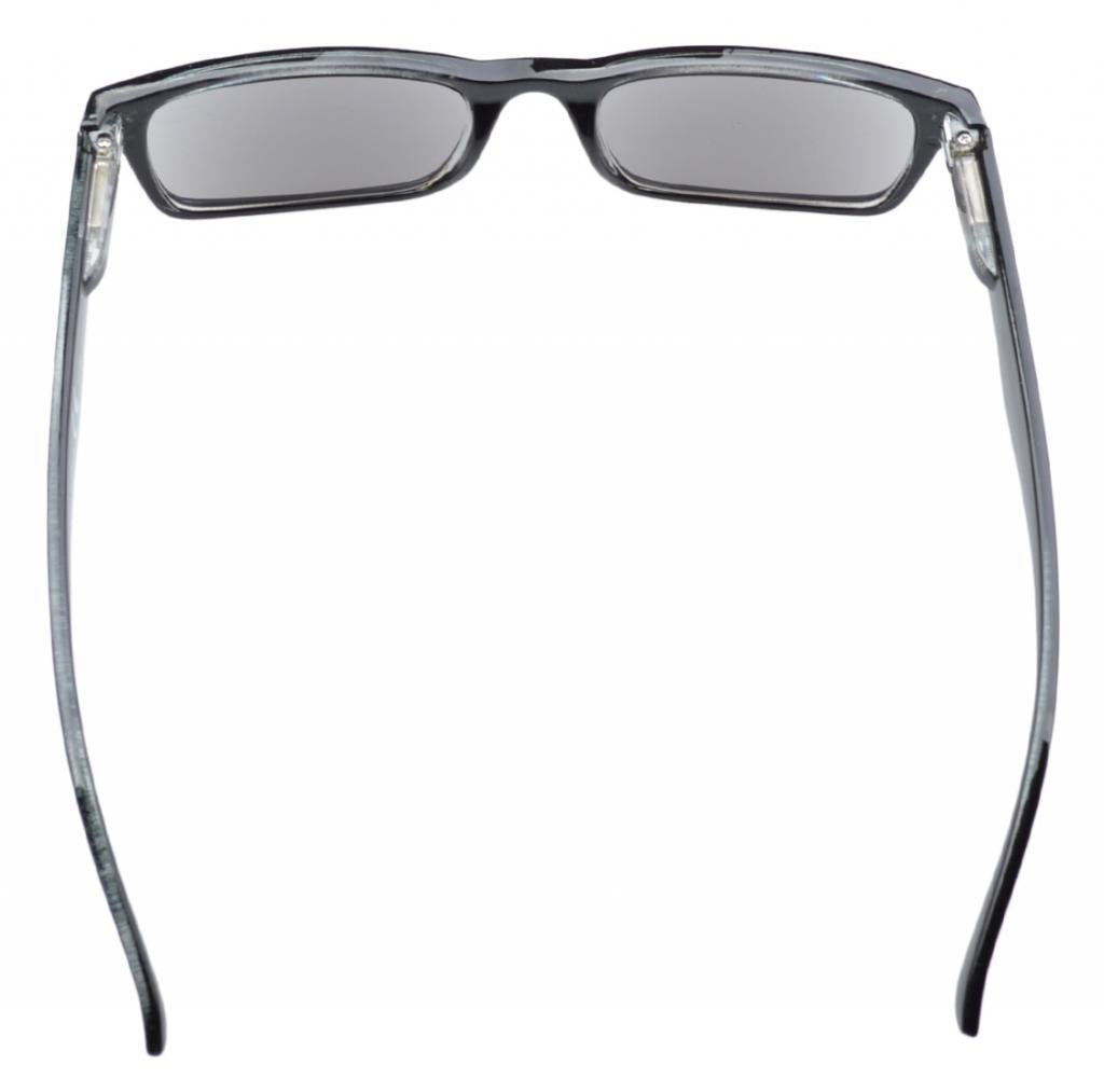 Eyekepper Spring Hinges Plastic Reading Glasses Sunshine Readers W/case Grey Lens +2.25