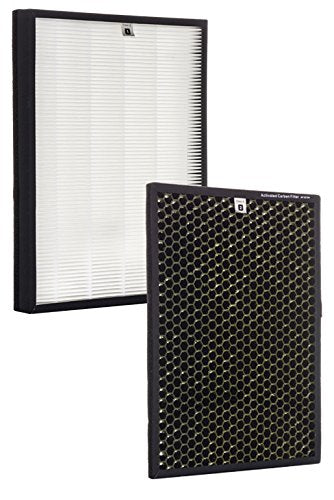 Alexapure Breeze Certified Replacement Filters – 1 True HEPA Filter and 1 Acti