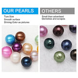NeuFashion Wholesale Freshwater Cultured Love Wish Pearl Oyster Round Pearls 10