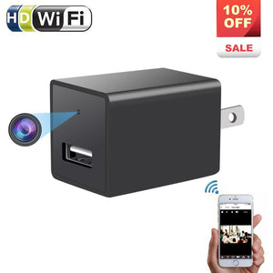 1080P Wifi Charger Hidden Spy Camera - ENKLOV HD P2P Wireless Wifi Video with AC