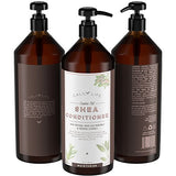 Calily Life Shea Butter Shampoo + Conditioner with Dead Sea Minerals and Castor