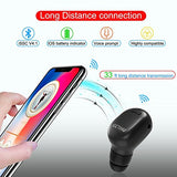 GETIHU Bluetooth Earbud Mini Invisible Wireless In-Ear headphone with 6 Hours Playtime with Mic Hand-Free Calls for iPhone Samsung Android Phone in Driving Workout Running (One pc)