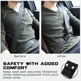 Automotive Adjustable Seat Belt Strap w/ Locking Clips 2 PU Leather & 2 Metal