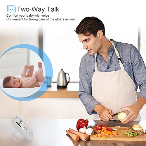 Video Baby Monitor with Camera, HD Night Vision, Two-Way Talk, and 3.5inch HD