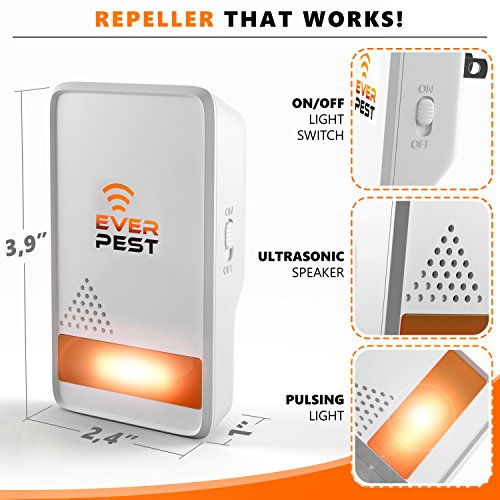 Mosquito Ultrasonic Pest Repellent 2018 - Home Control Professional Plug in 4 -