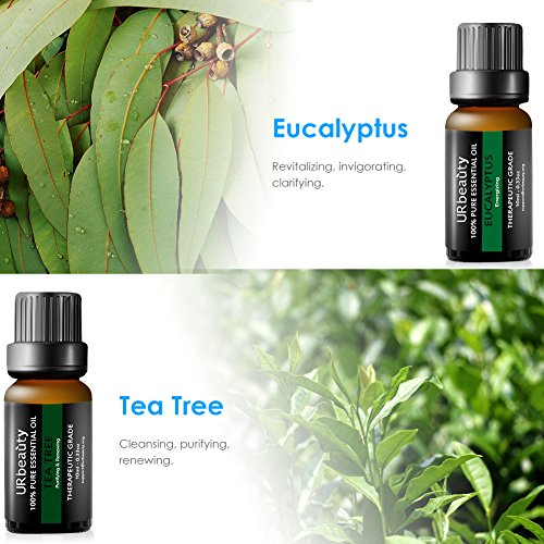 URbeauty Essential Oils, Upgrated 6 Aromatherapy Essential Oil Diffuser Oils Tea