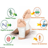 Bamboo Foot Pads, 20 PCS Body Relief Adhesive Foot Pads, Relieve Stress, Improve