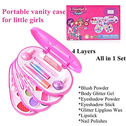 Ange-la COLORS PRINCESS Perfect Girls Real Make up Set Dress up Cosmetics Makeup