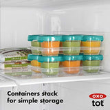 OXO Tot Baby Blocks Food Storage Containers, Teal, 2 Ounce