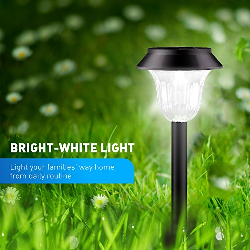 [2018 UPGRADED] Solar Lights Outdoor for Garden/Pathway/Walkway Decoration, 7 LM