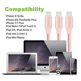 Aonsen Lightning Cable 3Pack 10FT Nylon Braided Certified iPhone Cable USB Cord