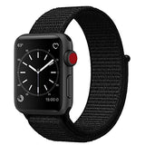 Smart Watch Band Dark Black Sport Loop, Uitee Newest Woven Nylon Band for Apple