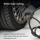 AstroAI Air Chuck, Heavy Duty Closed Flow Lock On Tire Chuck with Clip for Infla