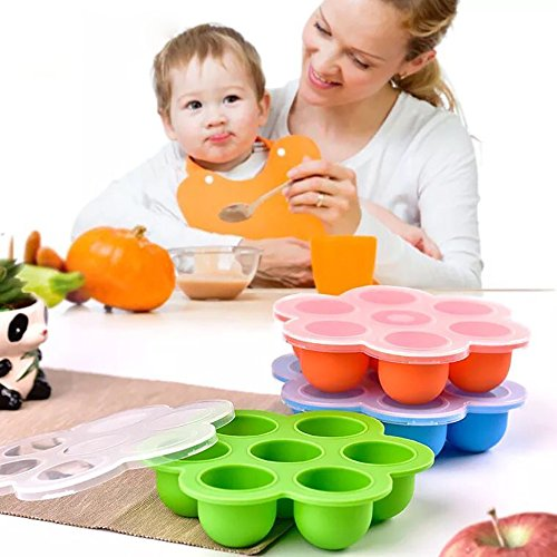 Silicone Egg Bites Molds Baby Food Freezer Tray|Reusable Kids Food Preparation &