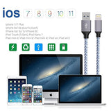 Lightning Braided Cable 4Pack [3FT 6FT 6FT 10FT] for iPhone 6 to X Gray & White