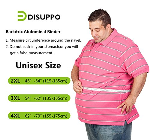 "9.5"" 3-Panel Elastic Abdominal Binder Back Brace Plus Size XXL 3XL 4XL, Support"