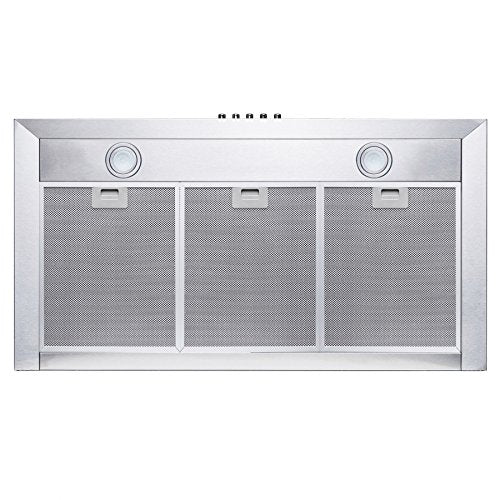 "Perfetto Kitchen and Bath 36"" Wall Mount Stainless Steel Push Panel Kitchen Rang"