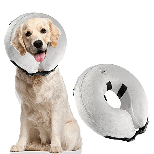 Airsspu Protective Inflatable Dog Collar - Soft Pet Recovery E-Collar Cone for