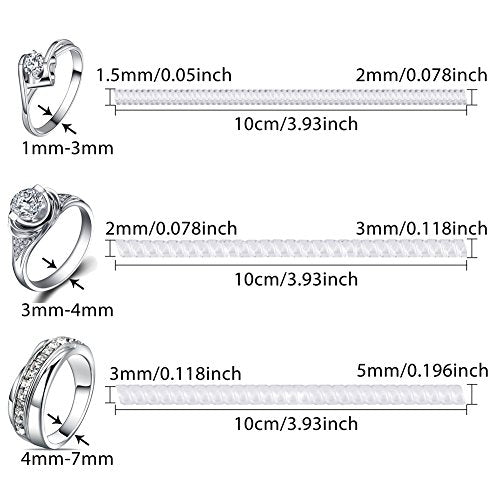 LOKIPA Ring Guards for Loose Rings Set of 3 Adjuster (2mm ,3mm & 5mm) Sizes