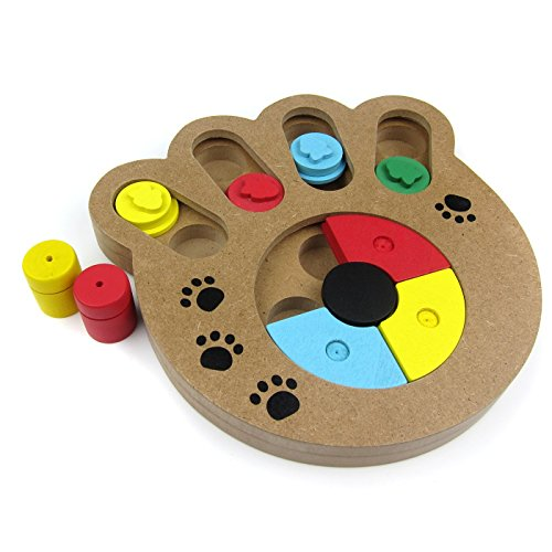 Alfie Pet by Petoga Couture - Lincoln Smart Interactive Treats Puzzle Toys For Dogs and Cats - Pattern: Paw