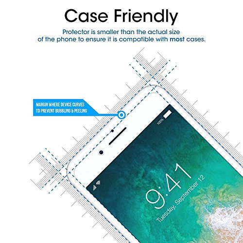 [3-Pack] Auideas for iPhone 8 / iPhone 7 Tempered Glass Screen Protector, Bubble