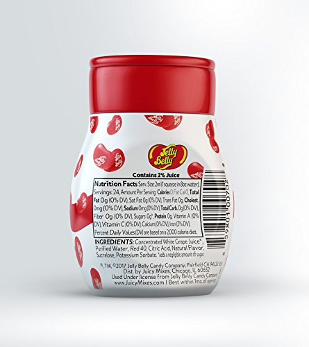 Jelly Belly Liquid Drink Mix - Variety Pack, Naturally Flavored Water Enhancer,