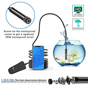 Wireless Endoscope, Slopehill Wifi Borescope Inspection Camera 1080P HD 2MP | Se