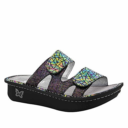 Alegria Womens Camille Slide Sandal Tectonic Size 38 EU 8-8.5 M US Women