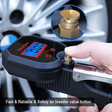 Tire Pressure Gauge,255 PSI Digital Tire Inflator Gauge, with Solid Brass 360 -