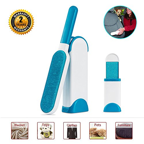 Pet Fur Remover - Lint&hair Removal Brush with Self-cleaning Base,Double-sided