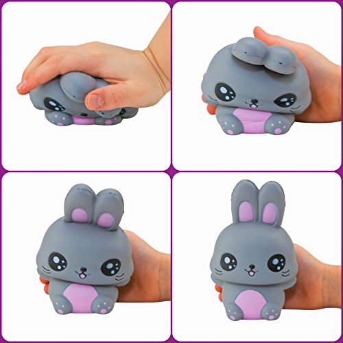 Slow Rising Easter Bunny & Friend Jumbo Soft Squishies Pack in Gift Worthy Box