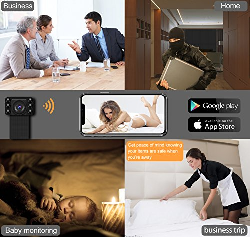 1080P Nigiht Vision WIFI Spy Hidden Camera, DigiHero Mini WiFi Camera/Night Cam