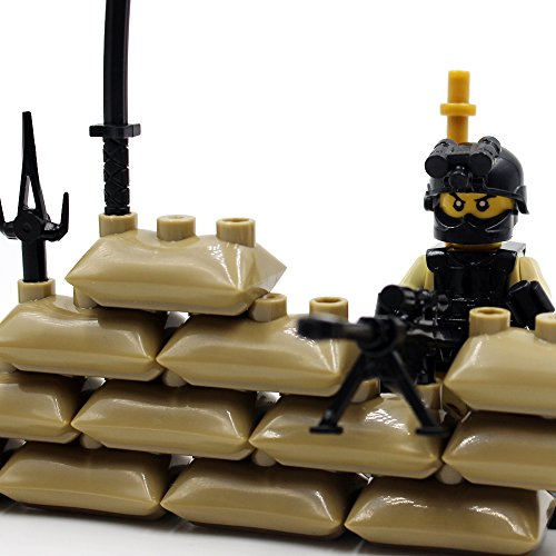 12pcs Army Minifigures SWAT Team with Military Weapons Accessories Policeman Soldier Minifigures Toys Building Blocks 100%Compatible (12)