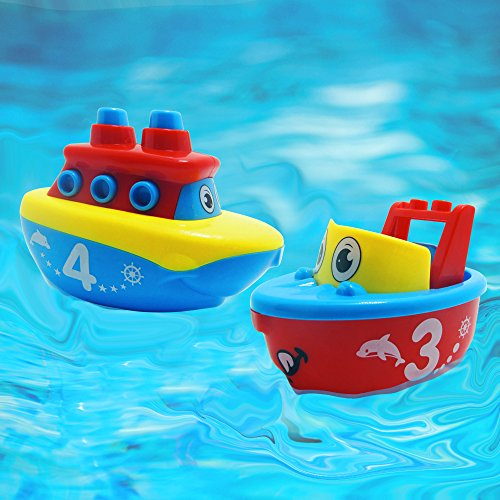 3 Bees & Me Bath Toys for Boys and Girls - Magnet Boat Set for Toddlers & Kids -