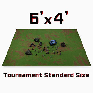 6 x 4 Open Field Neoprene Tabletop Battlemat with Carrying Case by Stratagem