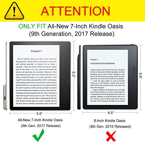 CaseBot Sleeve Case for Kindle Oasis 9th Generation, 2017 Release ONLY - Slim /