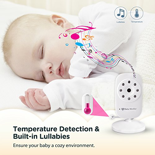 "Video Baby Monitor 3.5"" Large LCD Screen Display with Night Vision Camera, Two"