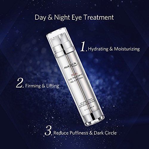 Eye Gel with Retinol for Dark Circles, Puffiness, Wrinkles and Bags, Day & Night