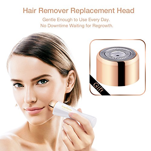 Portable Flawless Hair Removal KopBeau Painless Facial on Upper Lip Chin Cheeks