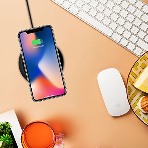 iPhone X Wireless Charger, Cubevit Qi Wireless Charging Pad Stand for Apple iPhone 8 iPhone 8 Plus Samsung Galaxy S9 S9 Plus S9+ Note 8 S8 S8 Plus S7 S7 Edge Note 5 S6 Edge Plus and other Qi devices