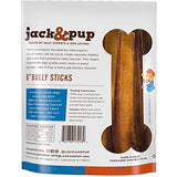 "Jack&Pup 6-inch Premium Grade Odor Free Bully Sticks Dog Treats [JUMBO-THICK SIZE], (6 Pack) – 6"" Long Natural Gourmet Chews Dog Treat – Savory and Fresh Beef Flavor – 60% Longer Lasting Bully Stick"
