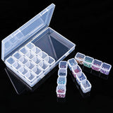28 Grids Diamond Embroidery Box Diamond Painting Nail Accessory Storage Box for