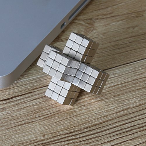 Magnetic Cube EJOYFL 216 Pcs 5mm Magnetic Square Magnetic Block DIY Puzzle Educational Toys for kids Intelligence and Creativity Development
