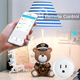 Smart Plug,Alexa WiFi Mini Smart Outlet,Working with Amazon Alexa Echo and ,Easy