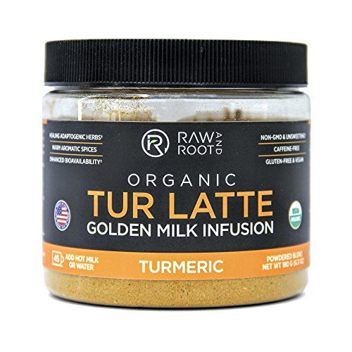Raw And Root - TUR LATTE - Organic Turmeric Latte Mix, Makes Turmeric Golden - /