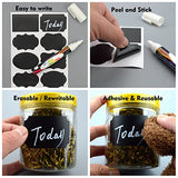 Chalkboard Labels,146pcs Waterproof Reusable Chalkboard Stickers with 1 White Ch