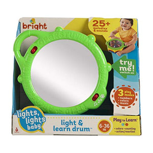 Bright Starts Light & Learn Drum with Melodies, Ages 3 Months +