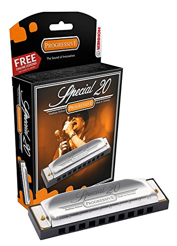 Hohner Special 20 Harmonica, 10 Holes Major C Bundle with Hard Case, Mini and C