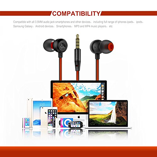 Earphones Cloudio J1 Noise Cancelling Earbuds In Ear Headphones With Microphone