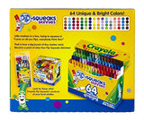Crayola Pip-Squeaks Skinnies Washable Markers, 64 count, Great for Home or School, Perfect Art Tools